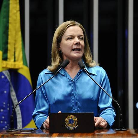 A presidente do PT, Gleisi Hoffman (PR) 07/06/2018 Foto: Agência Senado