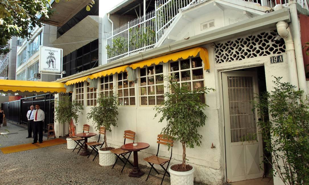 Restaurante Antiquarius fecha as portas após dívidas Foto: Gabriel de Paiva / Agência O Globo