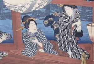 Detalhe de uma das gravuras de Utagawa Hiroshige que integra a coleção do Museu Van Gogh Foto: Divulgação