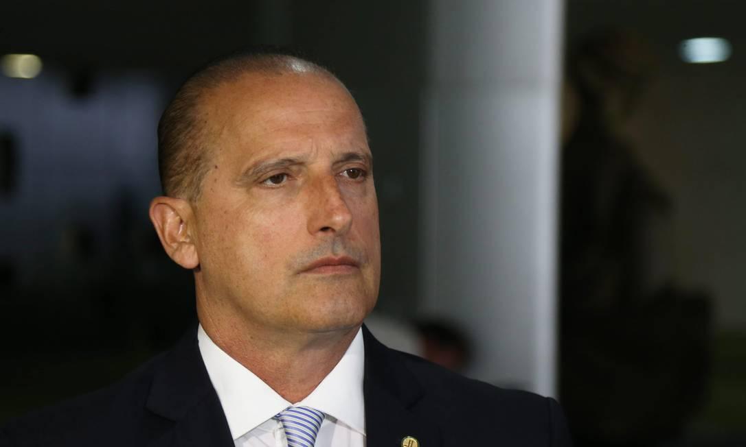 O deputado federal Onyx Lorenzoni (DEM-RS), durante entrevista na Câmara Foto: Ailton de Freitas/Agência O Globo/28-11-2016