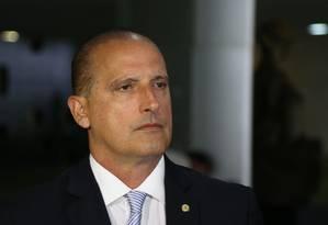 Chefe da Casa Civil, Onyx Lorenzoni Foto: Ailton de Freitas/Agência O Globo/28-11-2016