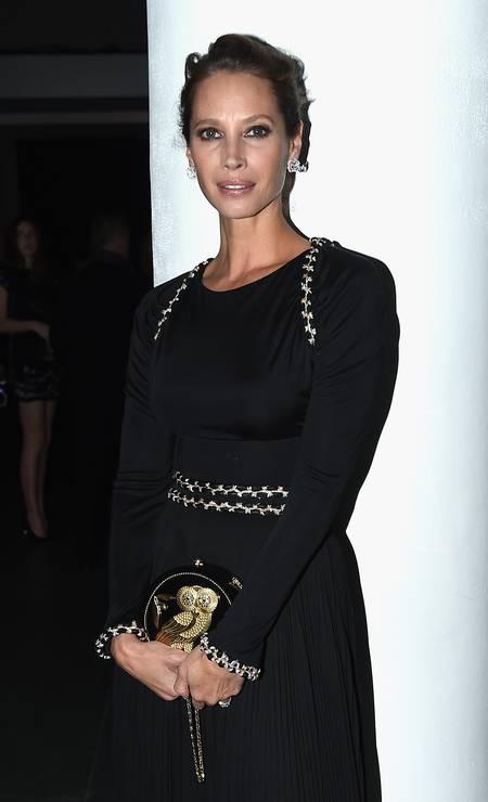 Christy Turlington, supermodelo dos anos 1990, também está na lista Foto: Nicholas Hunt / Getty Images for Museum Of Modern Art