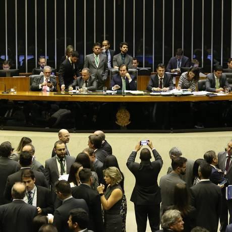 Câmara dos Deputados durante votação Foto: Ailton de Freitas / Agência O Globo
