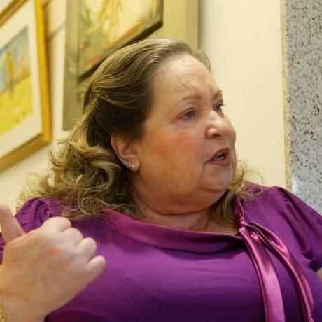 Marly Faro em sua galeria, em Ipanema, em 2010 Foto: Letícia Pontual / Agência O Globo