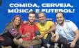 Fabi, do Ceviche da Fabi, Gabriel e André Palatnic, do Belga, e Fernando Campos, do La Empanadera