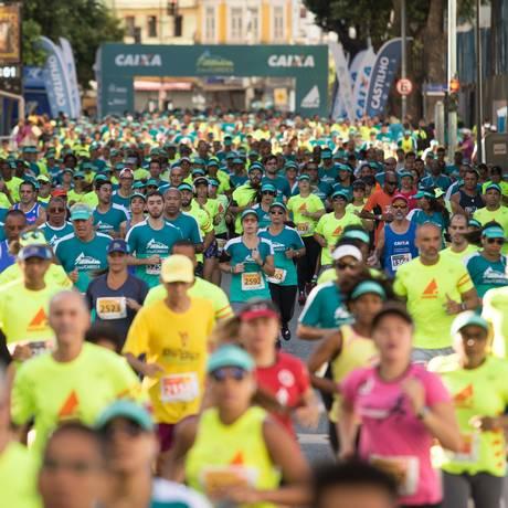 A corrida da 1ª etapa realizada nas ruas do Porto Maravilha, no Centro Foto: De Castilho Sports / Divulgação