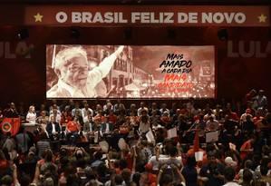 PT lança candidatura de Lula à Presidência, mesmo após ex-presidente ser preso Foto: DOUGLAS MAGNO / AFP
