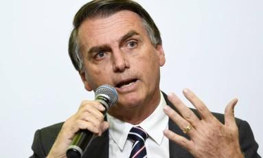 O pré-candidato do PSL, Jair Bolsonaro Foto: EVARISTO SA / AFP