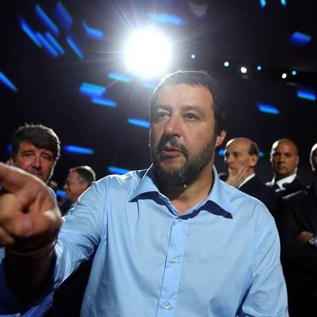 O ministro do Interior italiano Matteo Salvini Foto: TONY GENTILE / REUTERS