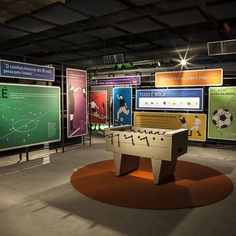 Sala do Museu do Futebol, que terá exposição no CCBB do Rio Foto: Tom Cabral/Divulgação