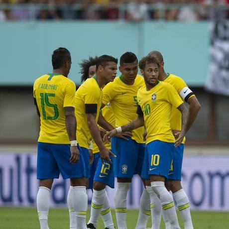 Preparação da seleção brasileira para a Copa da Russia 2018 Foto: Alexandre Cassiano / Agência O Globo