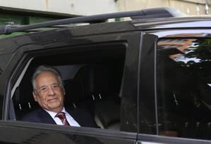 Fernando Henrique Cardoso chega para prestar depoimento no processo do sítio de Atibaia, na Justiça Federal em São Paulo Foto: Edilson Dantas / Agência O Globo