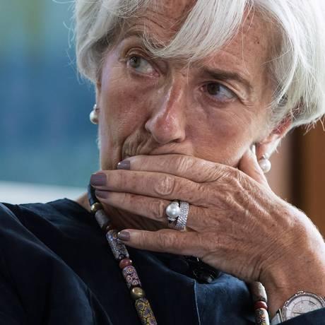 Christine Lagarde, diretora-gerente do FMI Foto: Darryl Dyck / Bloomberg