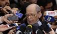 O advogado Sepúlveda Pertence, que faz parte da equipe de defesa do ex-presidente Lula