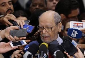 O advogado Sepúlveda Pertence, que faz parte da equipe de defesa do ex-presidente Lula Foto: Jorge William/Agência O Globo/06-03-2018