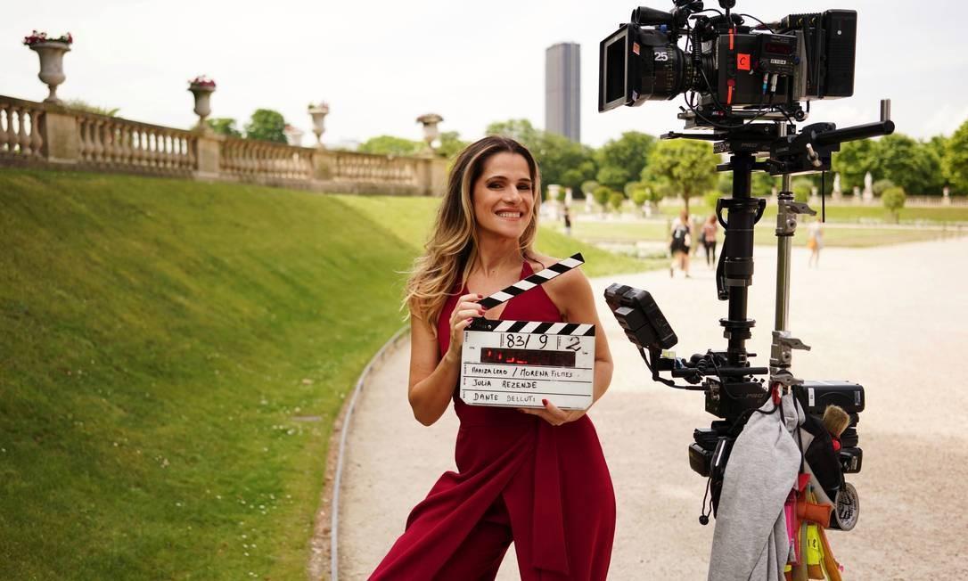 Ingrid Guimarães em filmagens de