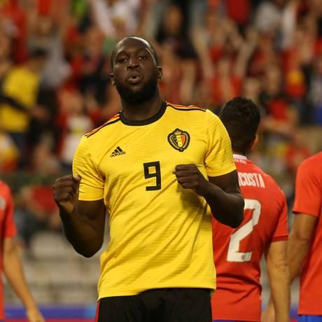 O centroavante belga Romelu Lukaku marcou dois gols Foto: FRANCOIS WALSCHAERTS / REUTERS