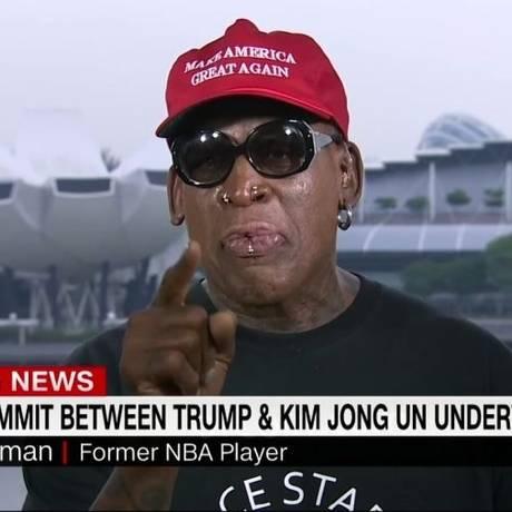 Rodman em entrevista à CNN sobre a cúpula em Cingapura: