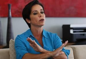 A deputada Cristiane Brasil, em entrevista Foto: Michel Filho / Agência O Globo