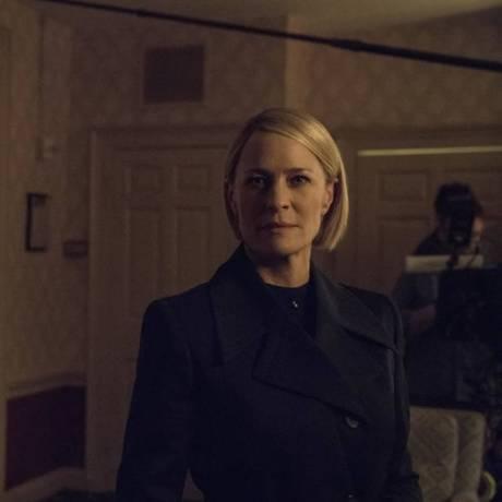 Robin Wright como a presidente Claire Underwood em 'House of Cards' Foto: Divulgação