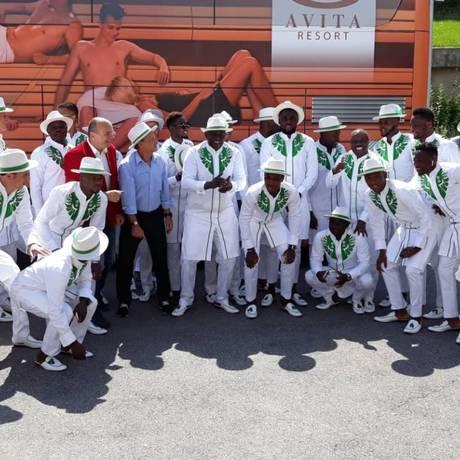 A elegância cool da seleção da Nigéria Foto: Reprodução/ Twitter