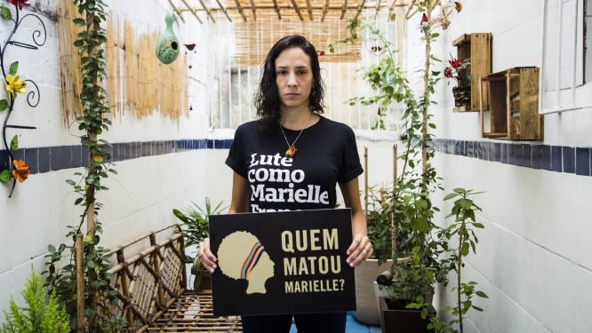 Monica Benício, viúva da vereadora Marielle Franco Foto: Elisângela Leite / Anistia Internacional - Divulgação
