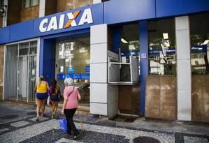 Agência da Caixa Econômica em Copacabana, Zona Sul do Rio Foto: Bárbara Lopes / Agência O Globo