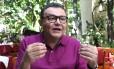 O presidente nacional do PSB, Carlos Siqueira, durante entrevista