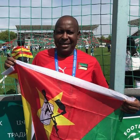 Daniel Cuta é treinador de jovens de até 18 anos em Moçambique Foto: Eduardo Zobaran