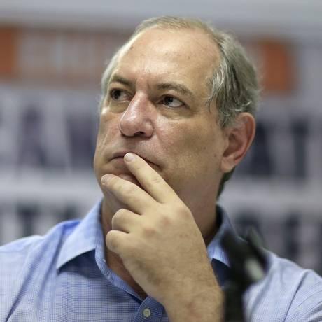Ciro Gomes na Força Sindical, em São Paulo Foto: 12/06/2018 / Agência O Globo