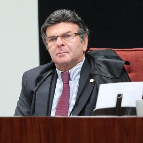 O ministro Luiz Fux, durante sessão da Primeira Turma do Supremo Foto: Carlos Moura/STF