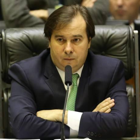 Rodrigo Maia (DEM-RJ) presidindo sessão na Câmara Foto: Ailton de Freitas - 06/06/2018 / Agência O Globo