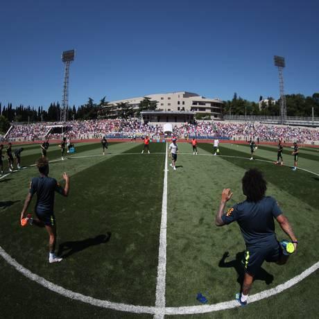 Primeiro treino aberto da Seleção Brasileira em Sochi, na Rússia Foto: Lucas Figueiredo / CBF
