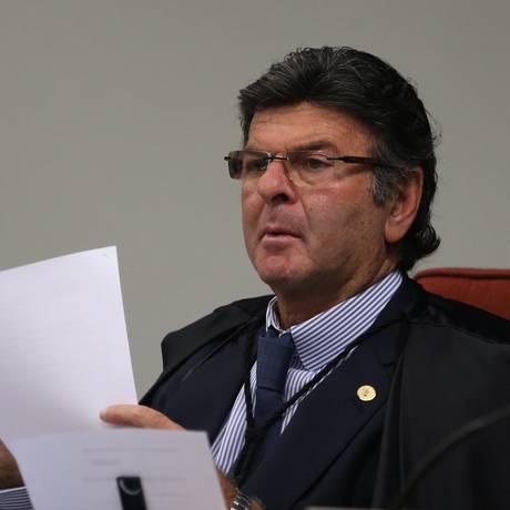 O ministro Luiz Fux, durante sessão da Primeira Turma Foto: Givaldo Barbosa - 22/05/2018 / Agência O Globo