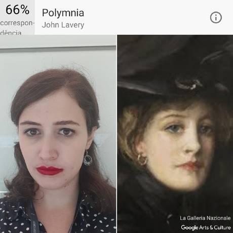 'Polymnia', de John Lavery, foi comparada com a repórter pelo Google Arts & Culture Foto: Divulgação