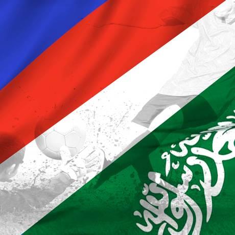 Rússia e Arábia Saudita abrem a Copa do Mundo 2018, em Moscou Foto: Editoria de Arte / O Globo