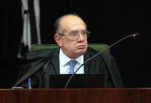 O ministro Gilmar Mendes, durante sessão da Segunda Turma do STF Foto: Carlos Moura/STF