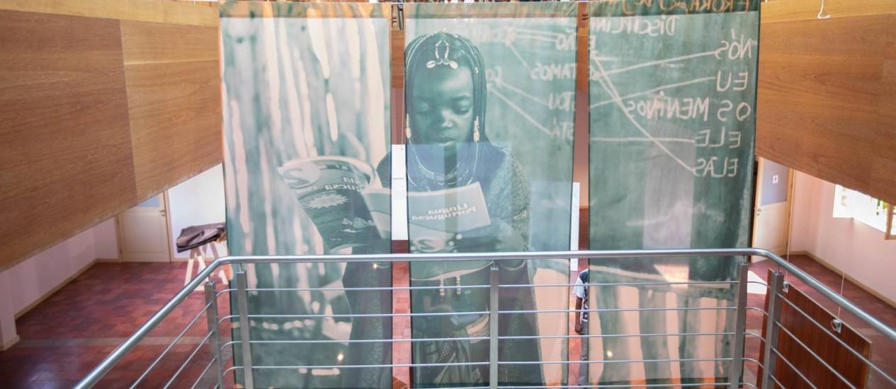 Área da exposição 'A Língua Portuguesa em nós' no Centro Cultural Brasil-Angola, em Luanda Foto: Njoi Fontes/Divulgação