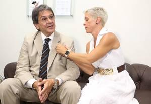 O ex-deputado Roberto Jefferson e a filha Cristiane Brasil (PTB) - 06/04/2016 Foto: André Coelho / Agência O Globo