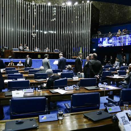 Plenário do Senado, durante votação Foto: Roque de Sá/Agência Senado
