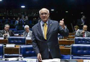 Lasier reclama que PSD não o acompanhou na defesa do voto aberto Foto: Roque de Sá/Agência Senado