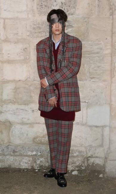 Kai, também da boy band Exo, foi a sensação do Cruise 2019 da Gucci, na França Vittorio Zunino Celotto / Getty Images for Gucci