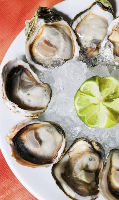 Entrada. A porção de ostras ao limão (R$ 62,90, com 12 unidades) é do Umas & Ostras (2568-7128) Divulgação