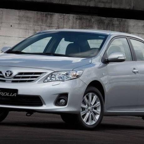 Toyota Corolla: o recall envolve os modelos fabricados de 2010 a 2012 Foto: Divulgação