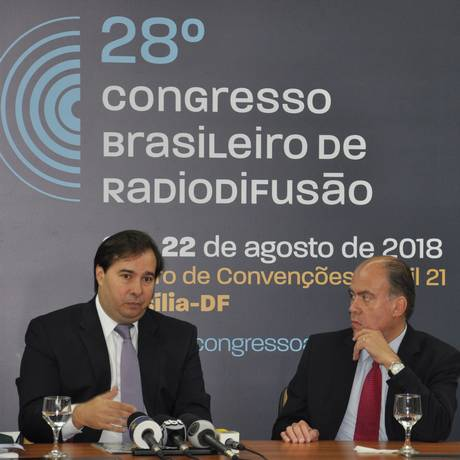 Rodrigo Maia é o primeiro pré-candidato à Presidência a participar da rodada de entrevistas da Abert Foto: Divulgação/Abert