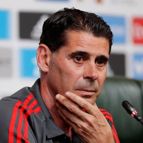 Soccer Football - World Cup - Spain Press Conference - Krasnodar, Russia - June 10, 2018 Spain coach Fernando Hierro during the press conference REUTERS/Stringer NO RESALES. NO ARCHIVES Foto: STRINGER / REUTERS