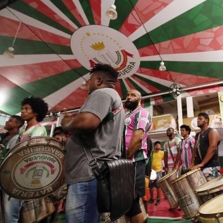 Esquenta. A bateria da Mangueira tocará na Arena Park na abertura Foto: Marcos de Paula / divulgação/MARCOS DE PAULA