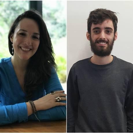 Os vencedores do Prêmio Sesc de Literatura 2018, Juliana Leite e Tobias Carvalho Foto: Acervo pessoal