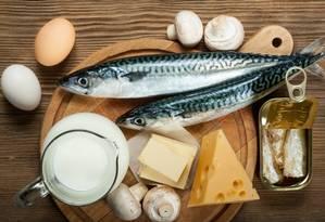 Fontes de vitamina D: peixe, leite e ovos Foto: Shutterstock