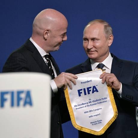 Os russos têm desde os tempos da União Soviética o hábito derecorreraos esportespara fazer políticainternacional Foto: Sputnik/Alexei Nikolsky/Kremlin / REUTERS